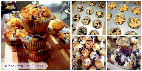 Blueberry Muffins - Pocketful of Sugar