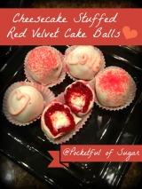 Cheesecake Stuffed Red Velvet CakeBalls