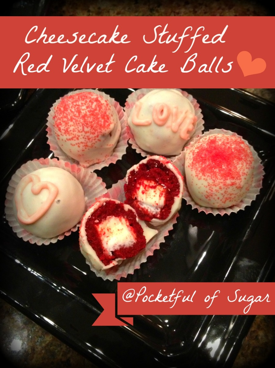 Red Velvet Cheesecake Cake Balls
