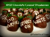 Michigan State Spartan Chocolate Covered Strawberries