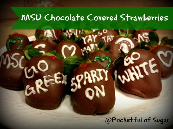 MSU Chocolate Covered Strawberries
