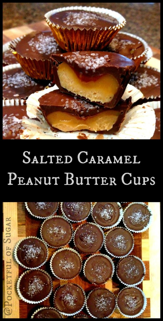 Salted Caramel Peanut Butter Cups - Pocketful of Sugar