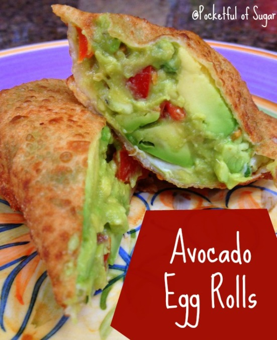 Avocado Egg Rolls - YUM! - Pocketful of Sugar