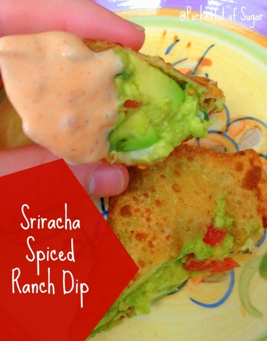 Avocado Rolls and Sriracha Spiced Rance Dipping Sauce - YUM! - Pocketful of Sugar