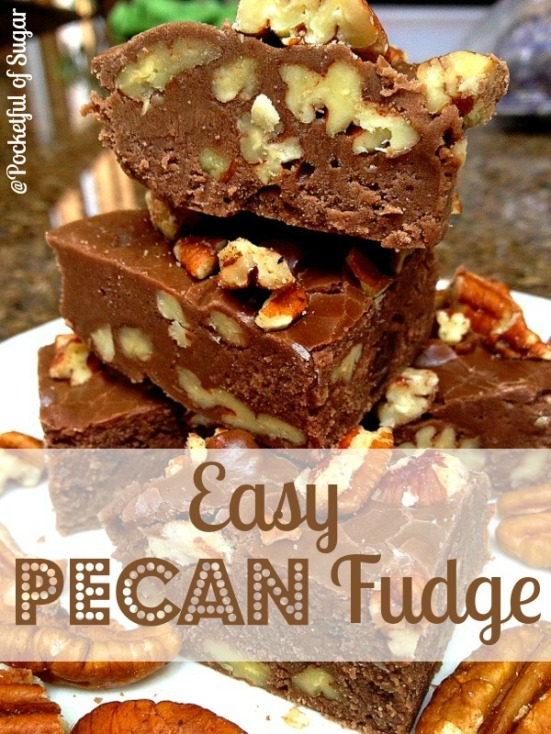 Easy Pecan Fudge - Pocketful of Sugar