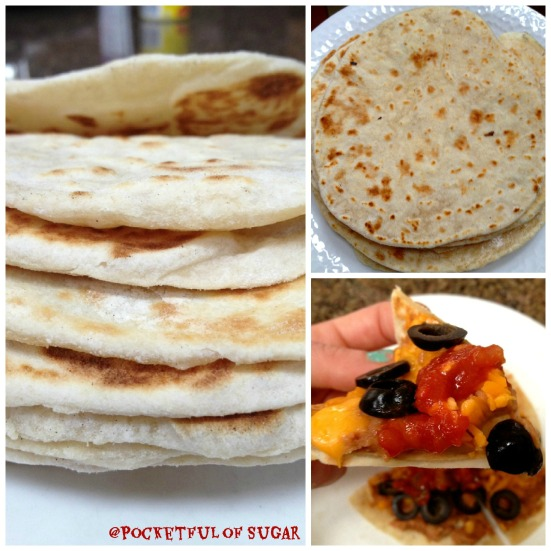Homemade Flour Tortillas -- Pocketful of Sugar