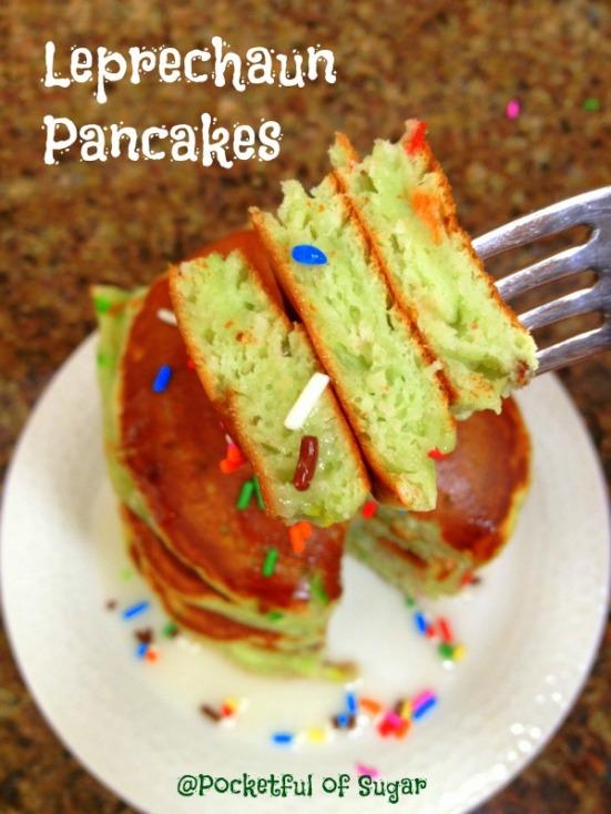 Leprechaun Pancakes - Pocketful of Sugar