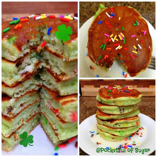 Leprechaun Pancakes -- Pocketful of Sugar