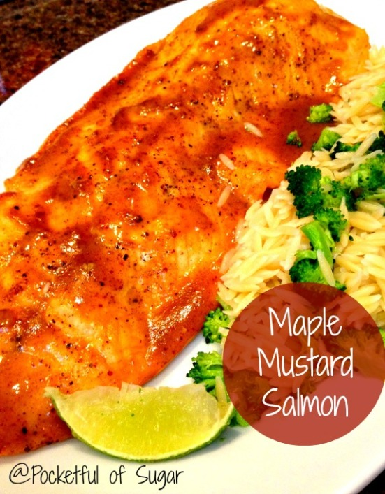 Maple Mustard Salmon - Pocketful of Sugar