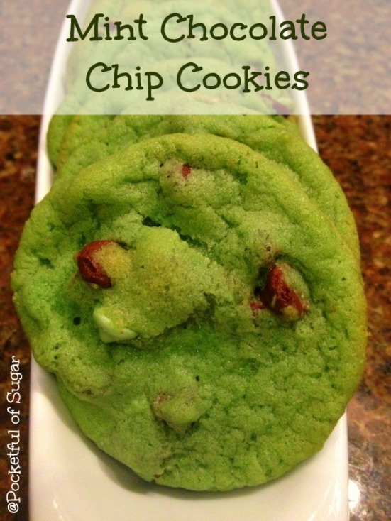Mint Chocolate Chip Cookies - Pocketful of Sugar