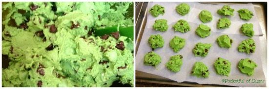 Mint Chocolate Chip Cookies --- Pocketful of Sugar