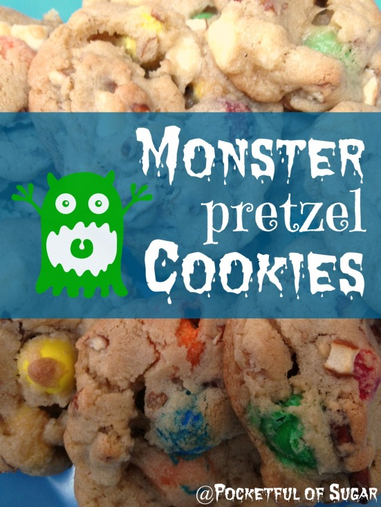 Monster Pretzel Cookies - Pocketful of Sugar