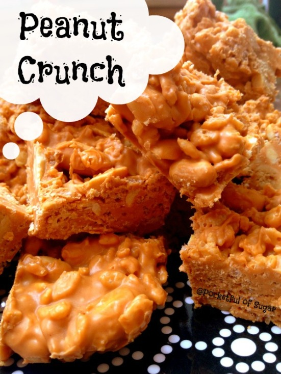 Peanut Crunch Bars - Pocketful of Sugar