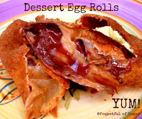 Dessert Egg Rolls - Pocketful of Sugar (so many recipes!)