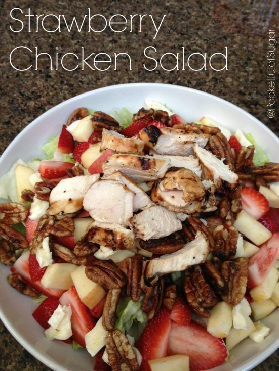 Strawberry Chicken Salad -- Pocketful of Sugar