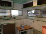 Vintage Camper Paneling and Paint